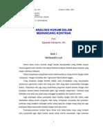 Analisis Hukum Dalam Merancang Kontrak