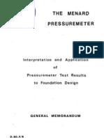 Menard Pressuremeter - D60 AN