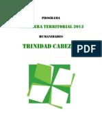 Programa Trinidad Cabezón