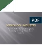Sosiologi Industri