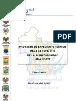 Proyecto Mancomunidad Lima Norte