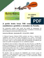 A partir desta terça TSE começa a julgar candidatos a prefeito e vereador da Paraíba
