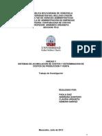 Sistemas de Acumulacion de Costos y Determinacion de Costos de Produccion y Venta