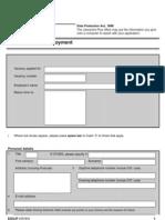 Job Centre Application Form for Employment