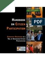 ECON Handbook on citizen participation and community organizing