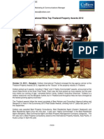 Colliers International Wins Top Thailand Property Awards 2012