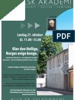 Katolsk akademi om Olav den Hellige