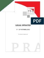 PRA Law Update - Oct. 1-12, '12