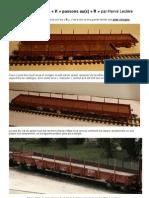 """Modélisme ferroviaire à l'échelle HO. 6. Après les wagons """"K"""" passons au R. Par H. Leclère. 2012"""