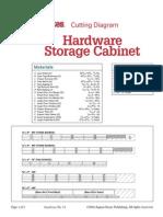 74 - Hardware Storage Cabinet