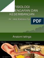 Fisiologi Pendengaran Dan Keseimbangan Kuliah Blok 4