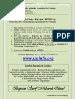 Informacije Za Kurban-Bajram 2012 g.
