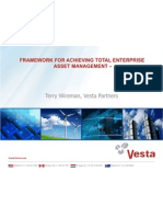 11 Framework for Achieving Total Enterprise Asset Management Terry Wireman Vesta Partners May 31 2012