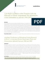 Teses e Dissertações sobre Pesquisa Ação no Brasil de 1966-2002