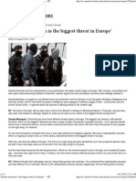 'Islamist terrorism is the biggest threat in Europe'