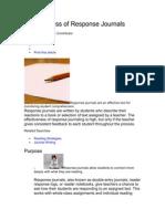 Effectiveness of Response Journals