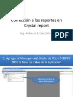 Corrección a los reportes en Crystal report