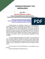 La Universidad Peruana y Sus Dinosaurios