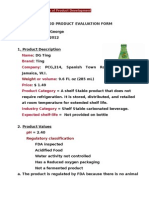 Product Evaluation Form 2012