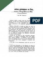 CORLIEUX - 1969 - Observations géologiques au Chay