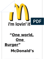 Brand Analysis on McDonalds