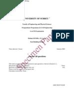 Surrey ENGM042 Sample Paper 2009