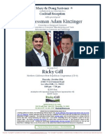 Cocktail Reception with Rep. Adam Kinzinger for Ricky Gill