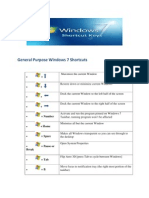 Windows 7 OS Shortcuts