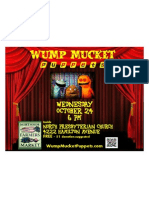 Wump Mucket Puppets October 24 show flyer