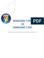 Windows 7 Professional vs Windows 7 Enterprise