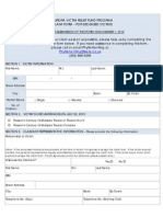 Claim Form for Deceased Victims