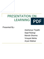 Presentation on Learning