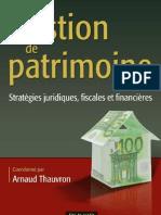 Gestion de patrimoine - Stratégie juridiques, fiscales et financières