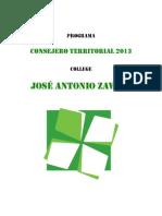 Programa CT College J A Zavala