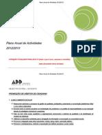 Plano Anual Actividades 2012-13 de 10 Outubro