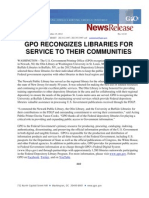 Gpo Recongizes Libraries for Service to Their Communities