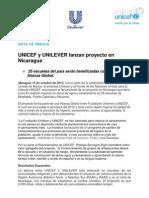 UNICEF y UNILEVER lanzan proyecto en Nicaragua