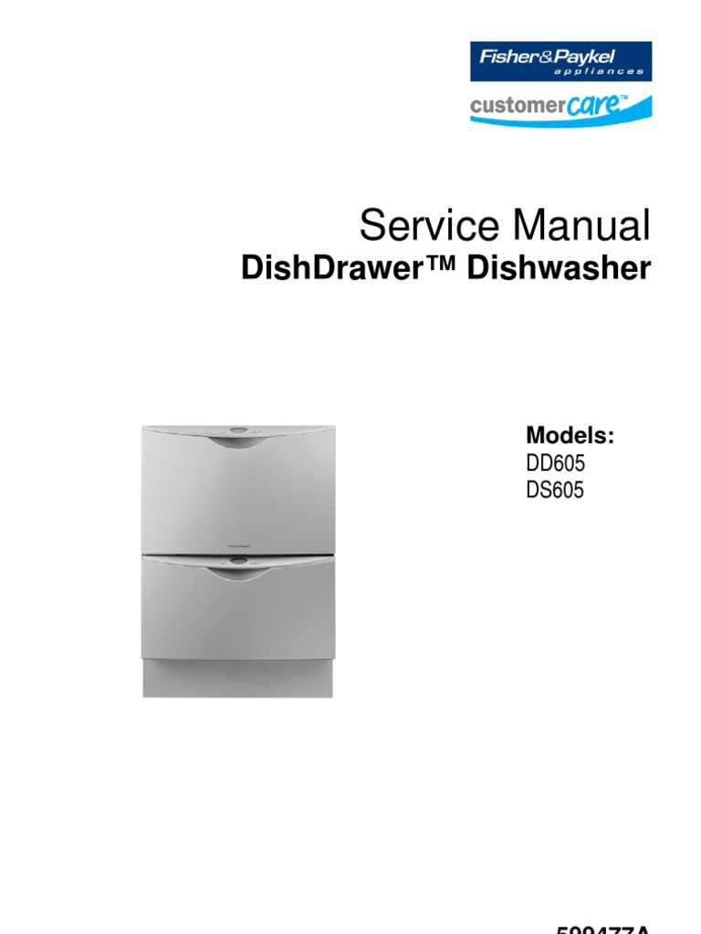Fisher & Paykel Dishwasher Service Manual 01 (DD605_Service_599447A) |  Electrostatic Discharge | Dishwasher