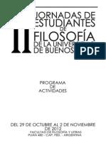 Programa Jornadas de Estudiantes de Filosofia