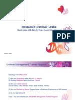 Intro to Unilever Arabia for Management Trainee Tcm120 161911