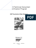 SAP R3 Technical Consultant Certification Program