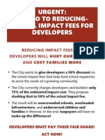 School Impact fee flyer