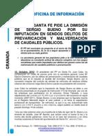 El alcalde de Santa Fe, imputado por prevaricación y malversación 15.10.12.