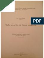Sulla Spondilite Da Febbre Ondulante. Carlo Clerici. Giornale Di Clinica Medica 1932