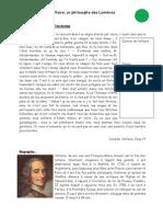 Voltaire - un philosophe des Lumières