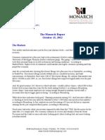 Monarch Report 10/15/2012