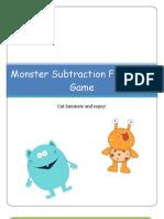 Monster Subtraction Filefolder