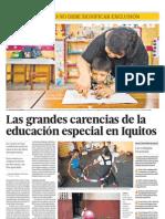 Situación de la educación básica especial en Iquitos