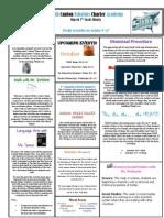 Newsletter 10-12-2012