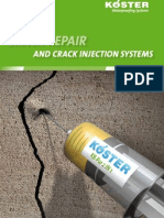 KOESTER Systembrochure Crack Repair and Crack Injection Systems